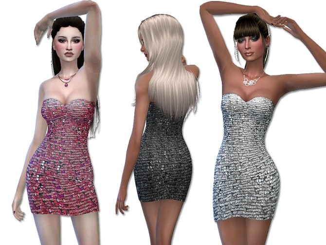 Sims 4 Sunshine dress by Simalicious at Mod The Sims