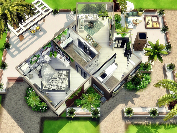 Sims 4 The Gosia Starter Home by Moniamay72 at TSR