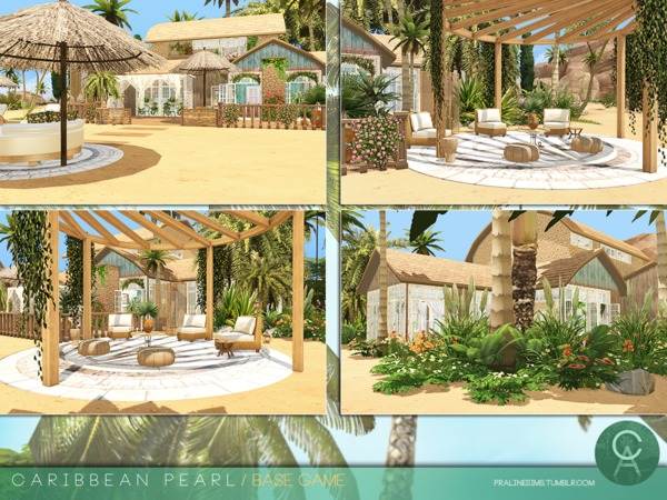 Sims 4 Caribbean Pearl home by Pralinesims at TSR