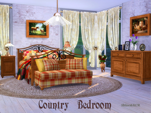 Bedroom Country by ShinoKCR at TSR image 319 Sims 4 Updates