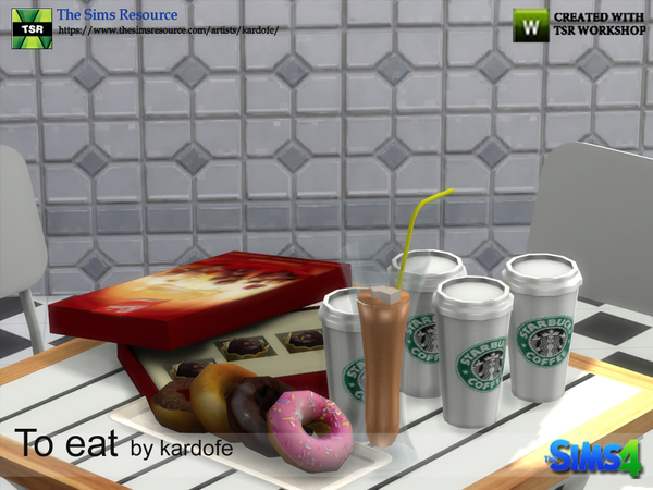 Sims 4 To eat 1 set by kardofe at TSR