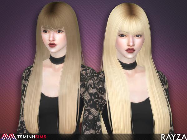 Sims 4 Rayza Hair 56 Set by TsminhSims at TSR