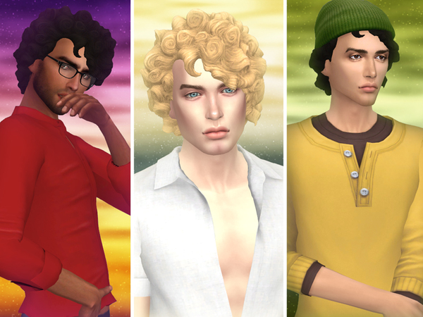 Sims 4 Helios male hair by WistfulCastle at TSR