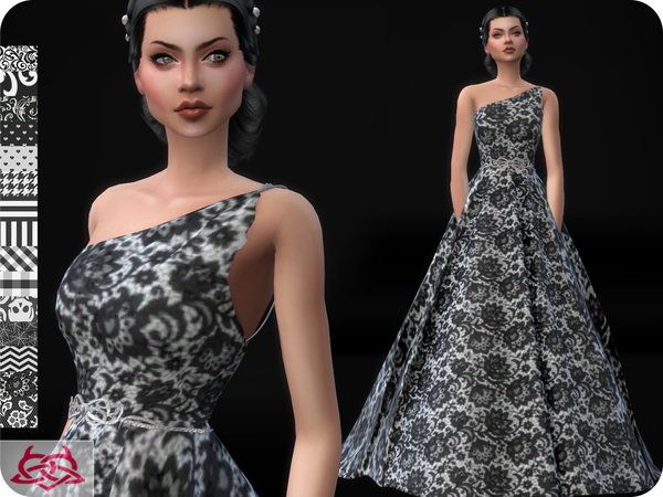 Sims 4 Wedding Dress 12 RECOLOR 1 by Colores Urbanos at TSR