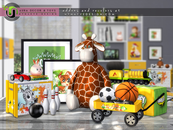 Sims 4 Aura Kids Decor and Toys by NynaeveDesign at TSR