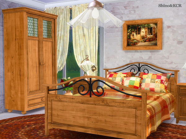 Bedroom Country by ShinoKCR at TSR image 325 Sims 4 Updates