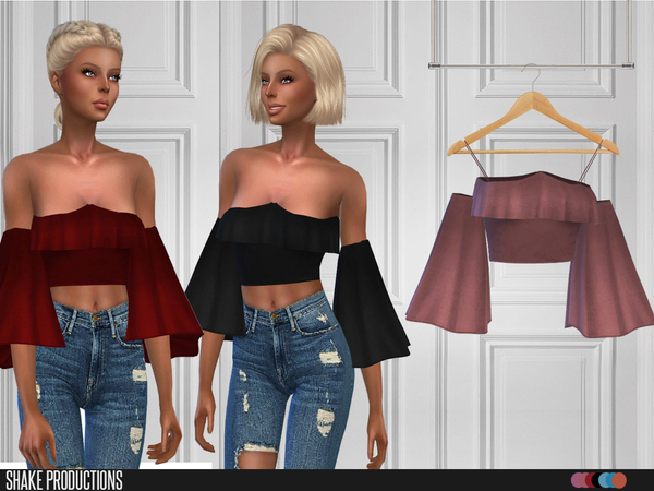Sims 4 102 Top by ShakeProductions at TSR