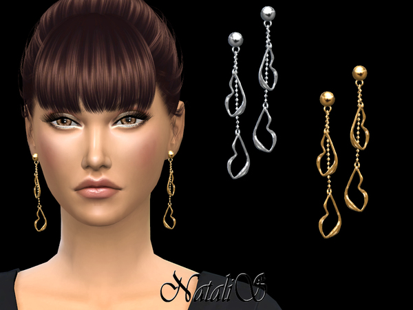 Your lips drop earrings by NataliS at TSR image 338 Sims 4 Updates