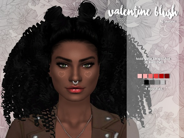 Sims 4 Valentine Blush by Heolims at TSR