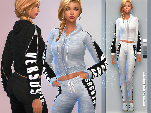 Sims 4 Hoodie with hidden Logo by EsyraM at TSR