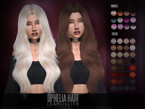 Ophelia Hair by Leah Lillith at TSR image 343 Sims 4 Updates