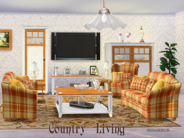 Country Livingroom by ShinoKCR at TSR image 348 Sims 4 Updates