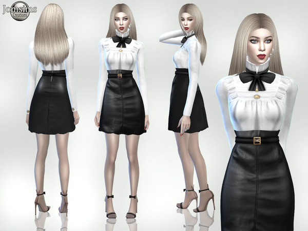 Sims 4 Greema outfit by jomsims at TSR
