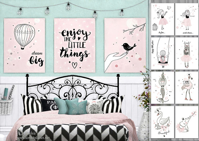 Sims 4 Cotton Candy posters at Lorelea