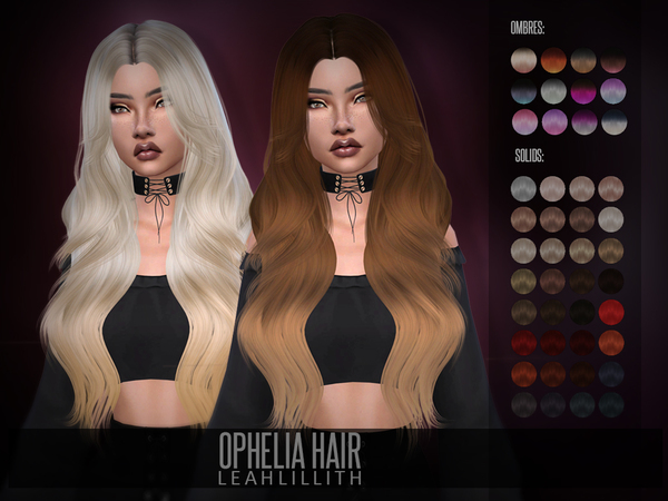 Ophelia Hair by Leah Lillith at TSR image 353 Sims 4 Updates