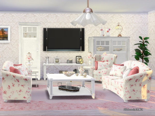 Country Livingroom by ShinoKCR at TSR image 358 Sims 4 Updates
