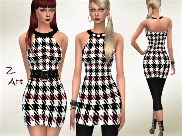 Sims 4 RetroZ 05 charming retro mini dress by Zuckerschnute20 at TSR
