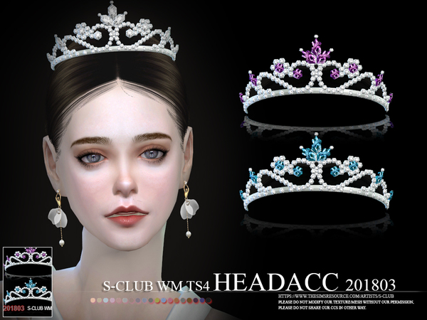 Crystal tiara headacc F 201803 by S Club WM at TSR image 361 Sims 4 Updates