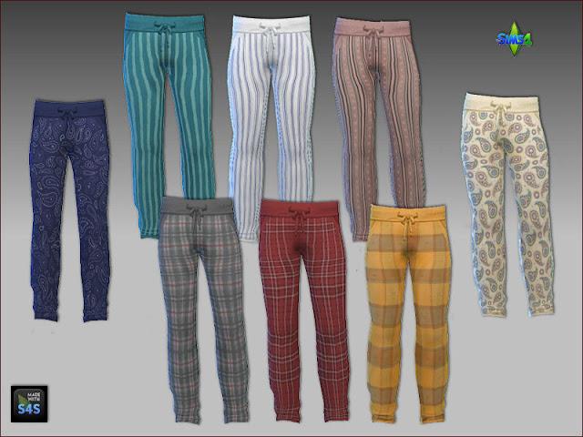 Sims 4 8 pajama pants for men at Arte Della Vita