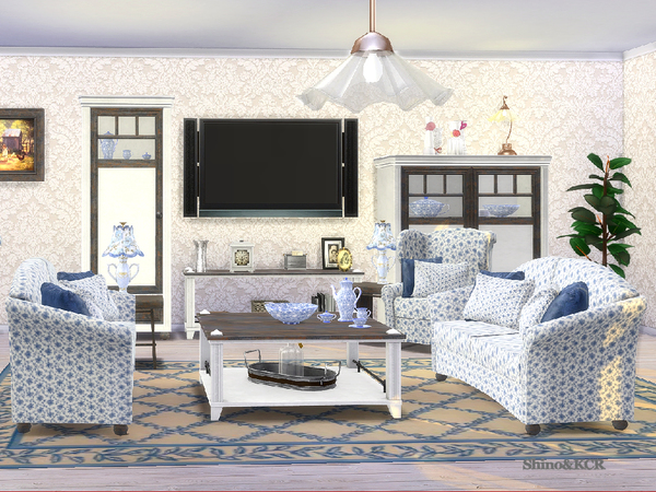Country Livingroom by ShinoKCR at TSR image 368 Sims 4 Updates