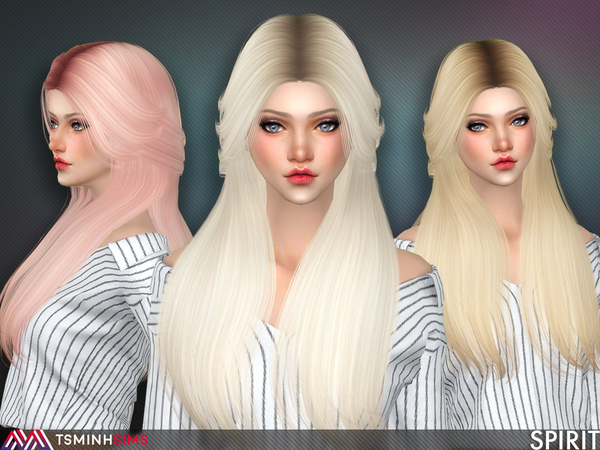 Sims 4 Spirit Hair 55 by TsminhSims at TSR