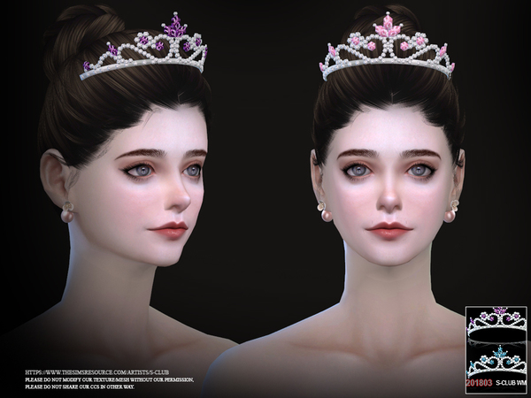 Crystal tiara headacc F 201803 by S Club WM at TSR image 371 Sims 4 Updates