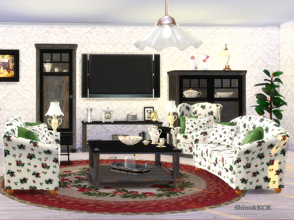 Country Livingroom by ShinoKCR at TSR image 377 Sims 4 Updates