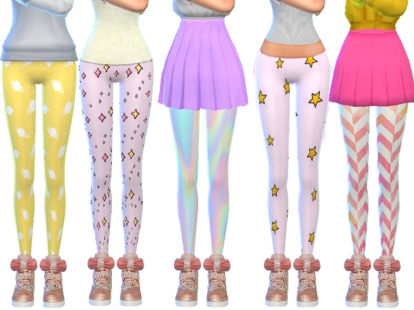 Tumblr Themed Leggings Pack Eleven by Wicked Kittie at TSR image 3814 Sims 4 Updates
