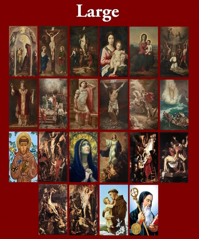 New Art Collection for easel with Christian Paintings by Havem at Mod The Sims image 3818 670x803 Sims 4 Updates