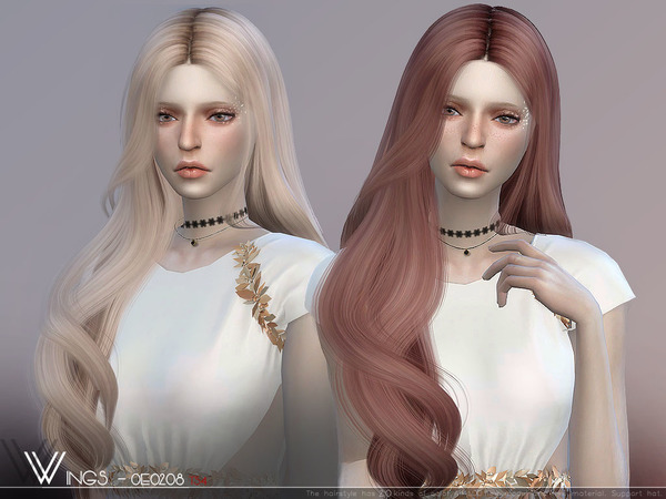 Hair OE0208 by wingssims at TSR image 384 Sims 4 Updates