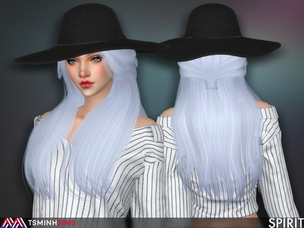 Spirit Hair 55 by TsminhSims at TSR image 388 Sims 4 Updates