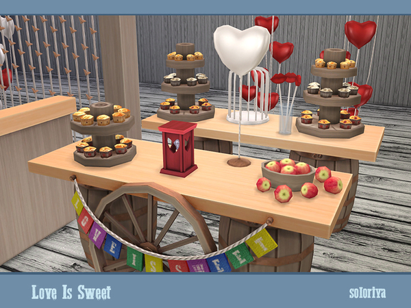 Love Is Sweet set by soloriya at TSR image 39 Sims 4 Updates