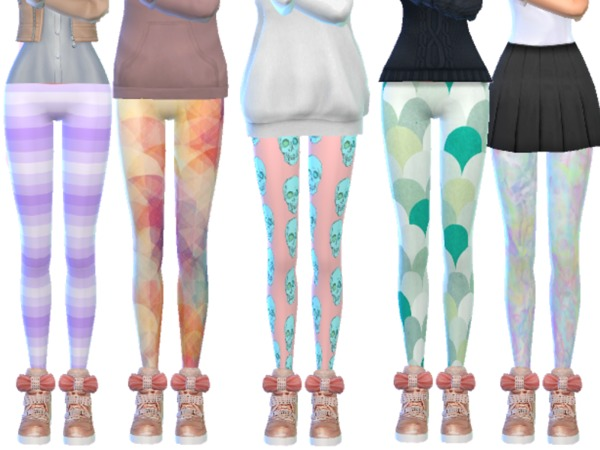 Tumblr Themed Leggings Pack Eleven by Wicked Kittie at TSR image 3914 Sims 4 Updates