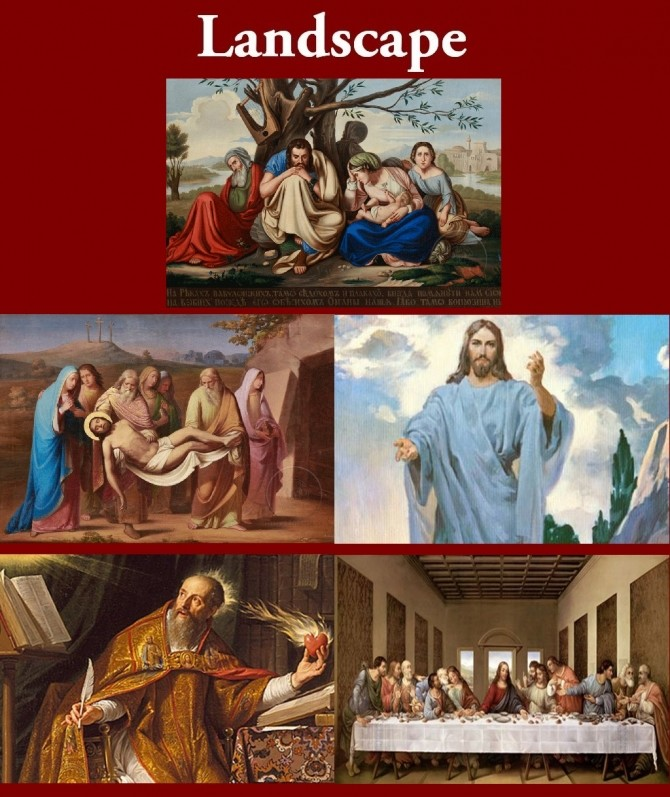 New Art Collection for easel with Christian Paintings by Havem at Mod The Sims image 3918 670x797 Sims 4 Updates