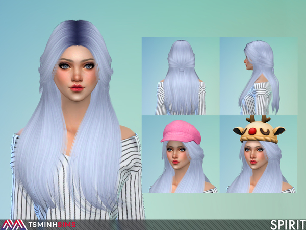 Spirit Hair 55 by TsminhSims at TSR image 398 Sims 4 Updates