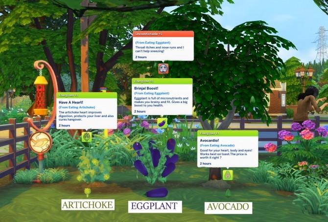 Sims 4 Harvestable Artichoke, Aubergine and Avocado by icemunmun at Mod The Sims