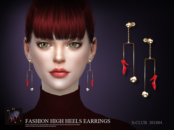 Sims 4 Earrings 201804 by S Club LL at TSR