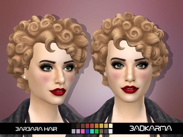 Sims 4 Barbara Hair by BADKARMA at TSR