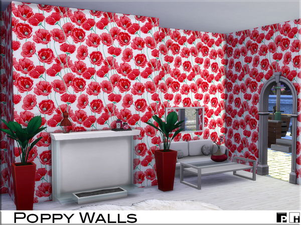 Poppy Walls by Pinkfizzzzz at TSR image 439 Sims 4 Updates