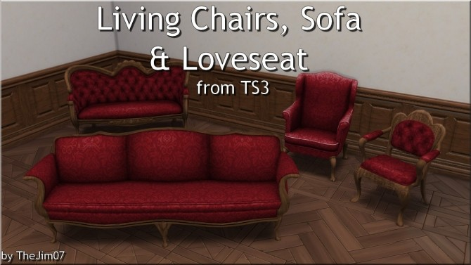 Living Chairs, Sofa & Loveseat from TS3 by TheJim07 at Mod The Sims image 4411 670x377 Sims 4 Updates