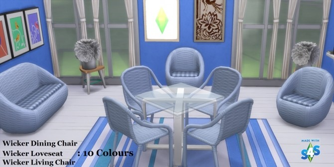 Sims 4 The Wicker Set 10 Recolours by wendy35pearly at Mod The Sims
