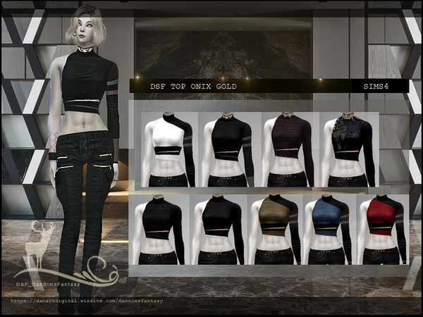 Sims 4 DSF TOP ONIX GOLD by DanSimsFantasy at TSR