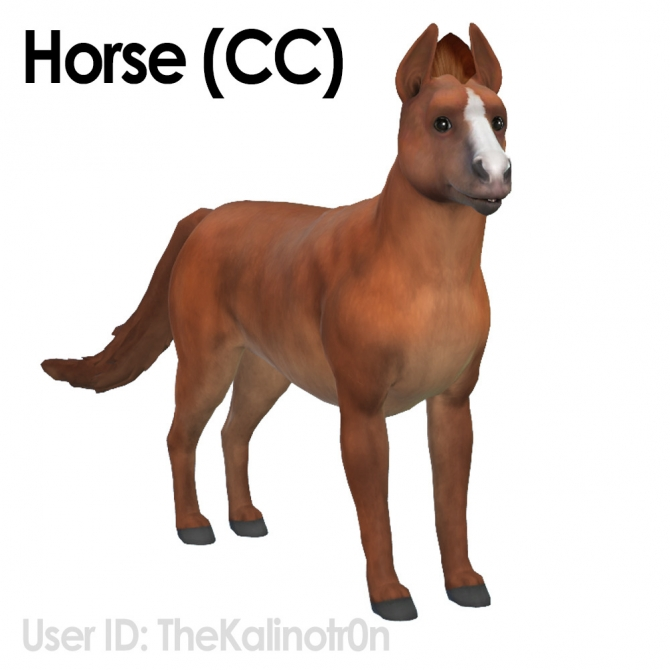 Horse Zebra And Donkey At Kalino 187 Sims 4 Updates