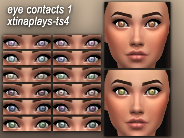 Eye Contacts 1 by xtinaplays ts4 at TSR image 4617 Sims 4 Updates