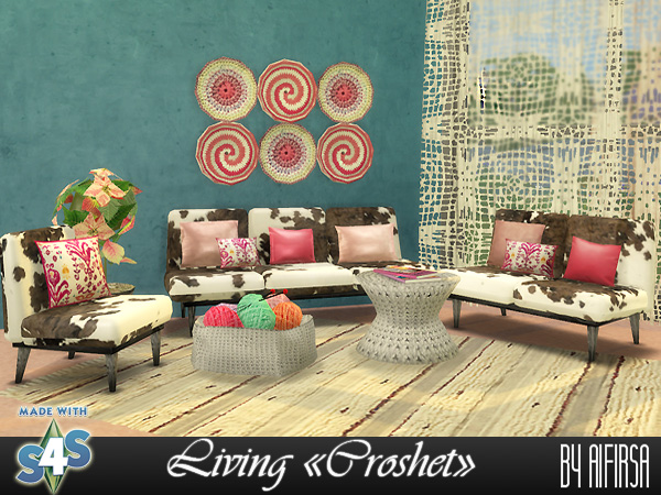 Croshet Living room at Aifirsa image 467 Sims 4 Updates