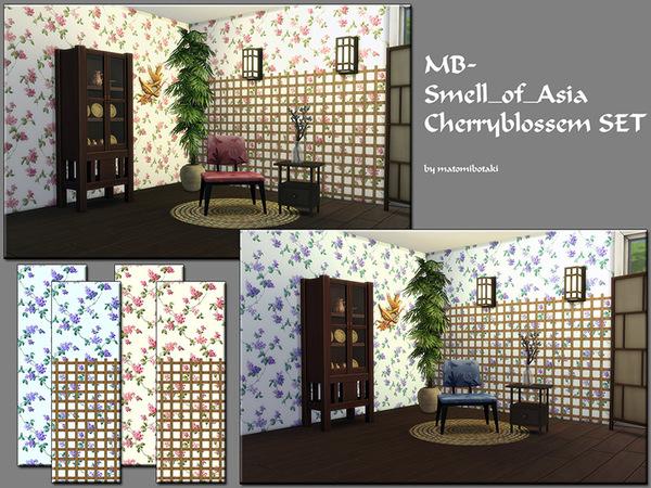 Sims 4 MB Smell of Asia Cherryblossem SET by matomibotaki at TSR