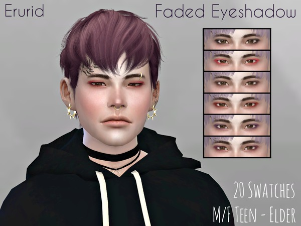 Sims 4 Faded Eyeshadow by Erurid at TSR