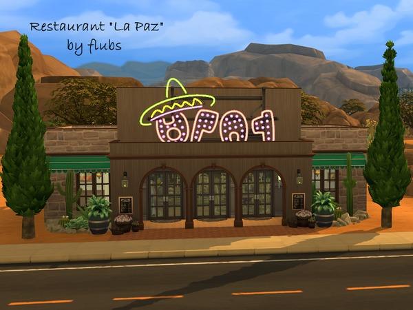 Sims 4 Restaurant la paz no cc by flubs at TSR