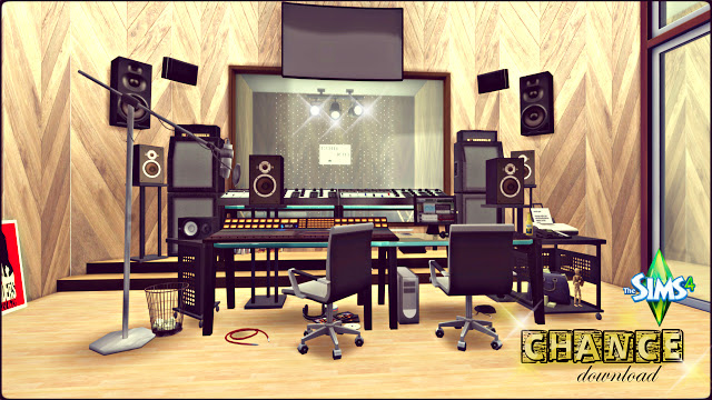 Chance Recording Studio by Rissy Rawr at Pandasht Productions image 487 Sims 4 Updates