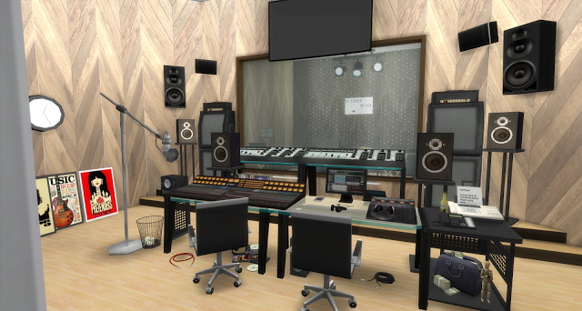 Chance Recording Studio by Rissy Rawr at Pandasht Productions image 497 Sims 4 Updates
